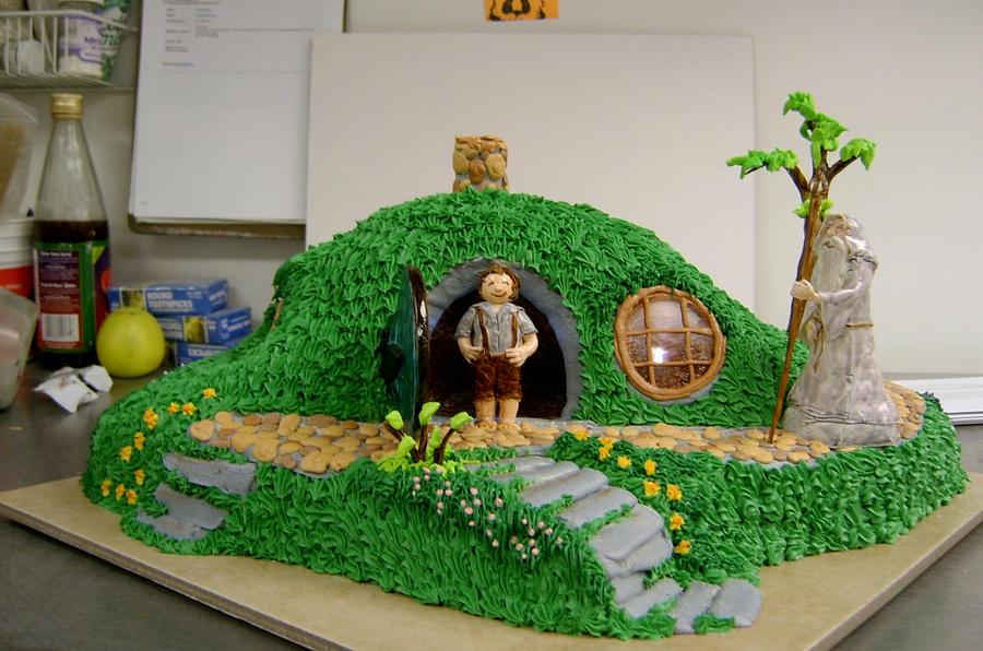 Hobbit Hole Cake v1 by The-EvIl-Plankton on DeviantArt