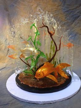 Koi Pond Sugar Art Piece