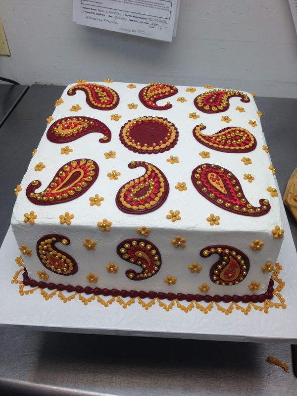 Indian Paisley Birthday Cake by The-EvIl-Plankton