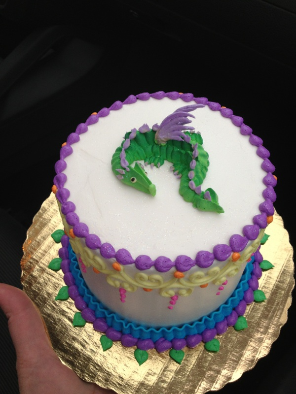 Little Dragon Birthday Cake By The Evil Plankton On Deviantart