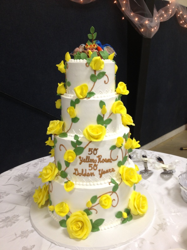 50th Wedding Anniversary Cake by The-EvIl-Plankton