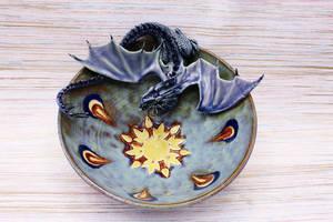 Sun Burst Dragon Bowl