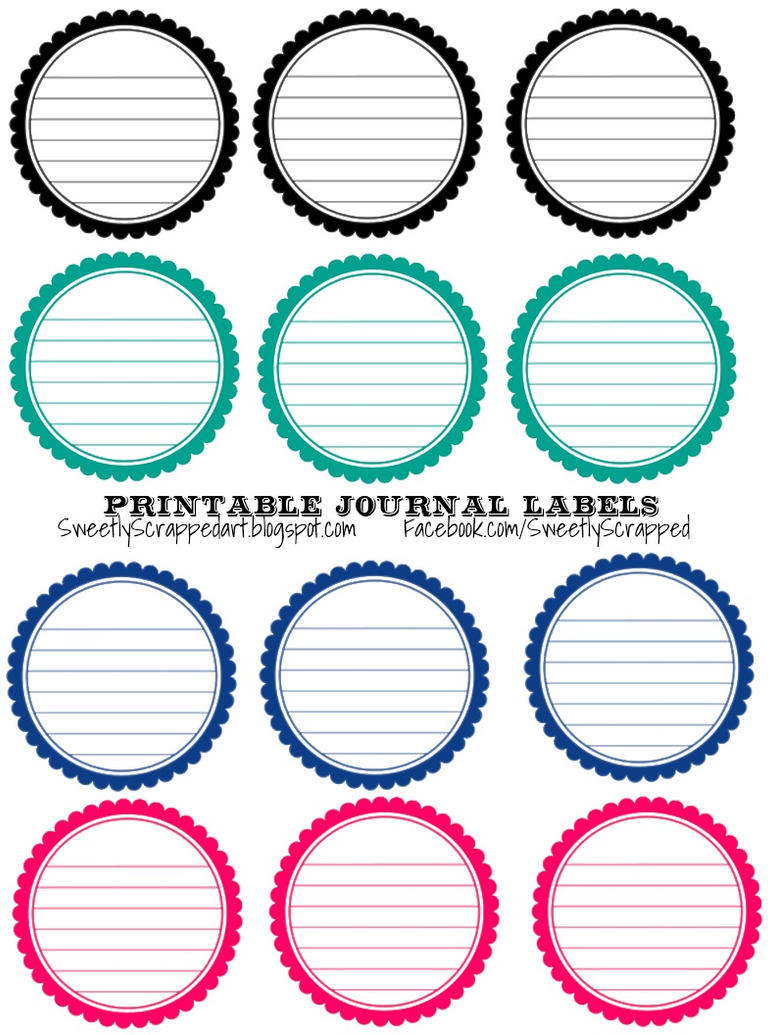 Free Printable Labels Free printable scalloped