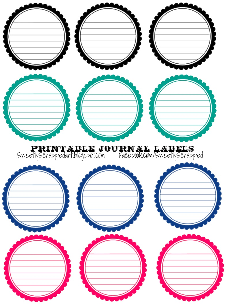 Insane image in circle printable labels