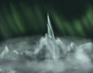 Ice Mountain Peak by deadlylupine