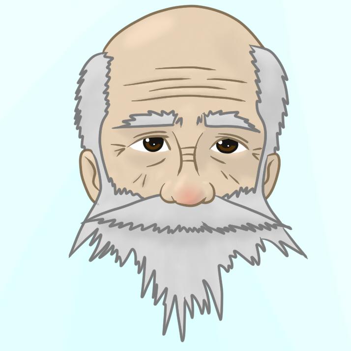Old Man Face Cartoon Old Man Face by Durahanpius
