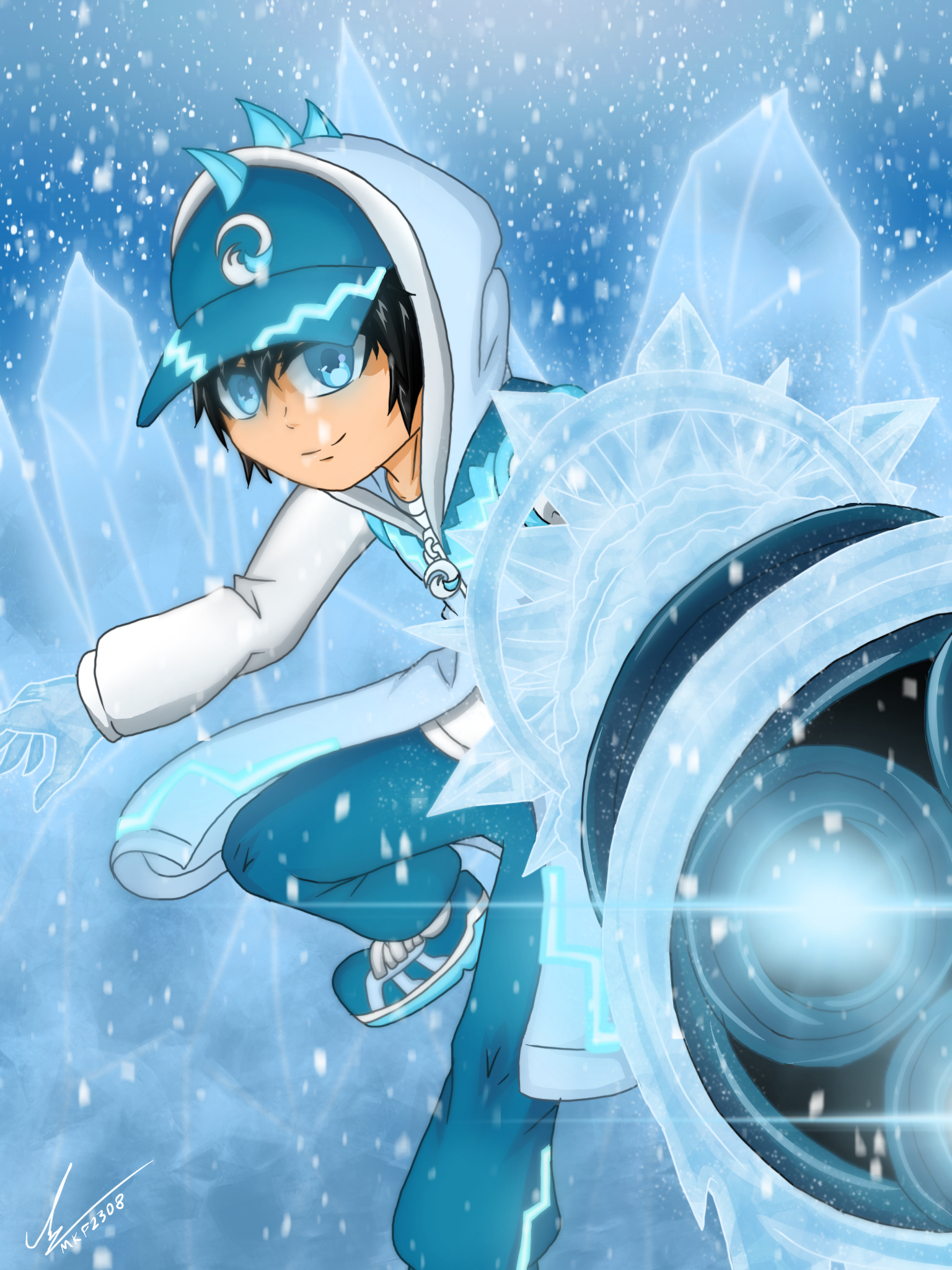 handphone wallpaper boboiboy ice - photo #1