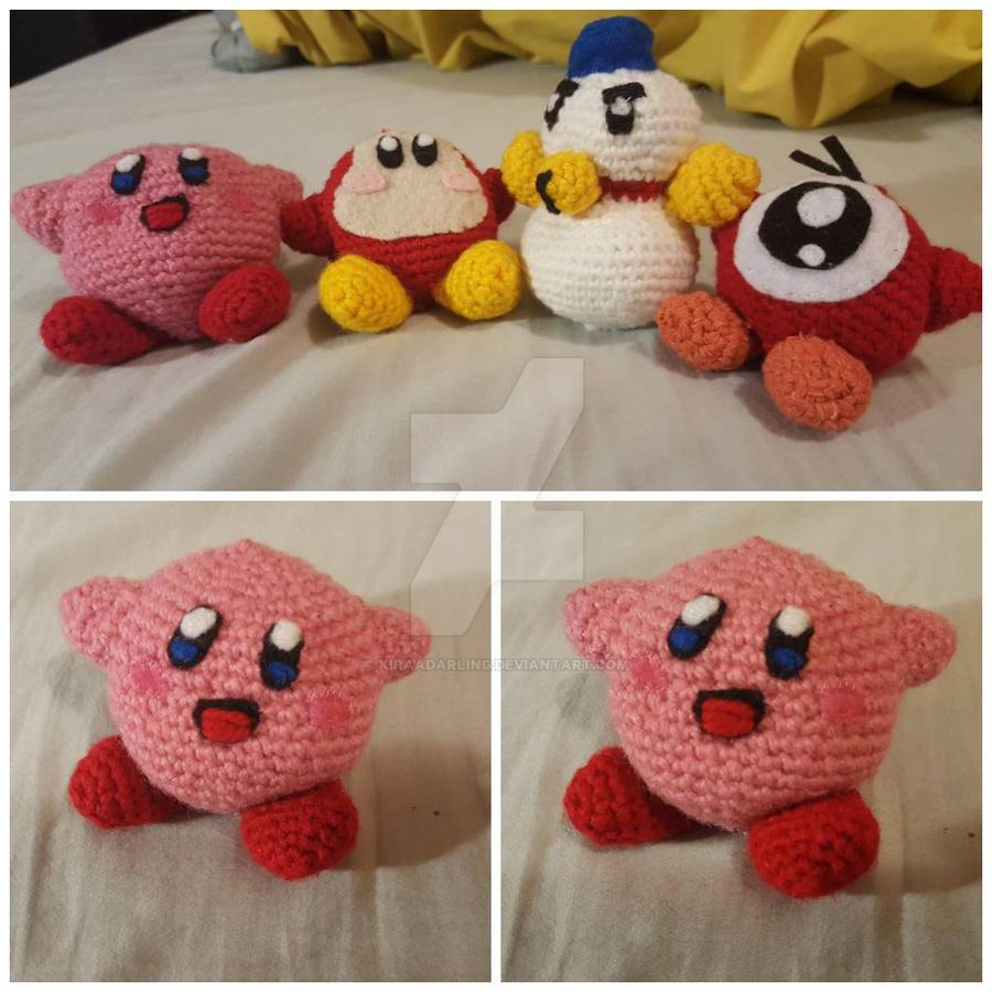 Crochet Yoshi Kirby Amigurumi - Kirby's Epic Yarn and Yoshi's ... | 900x900