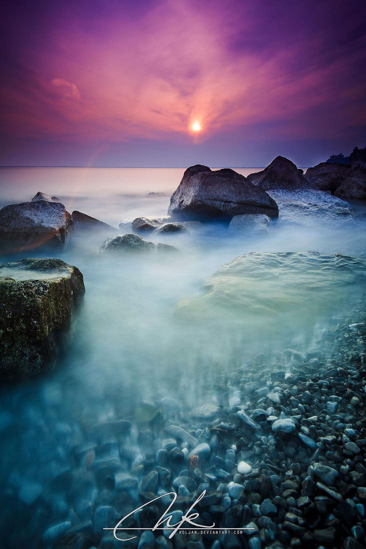 Dusk at the seashore by Koljan