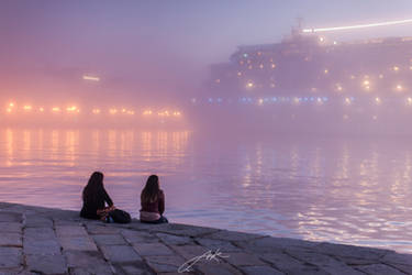 The city and the fog by Koljan