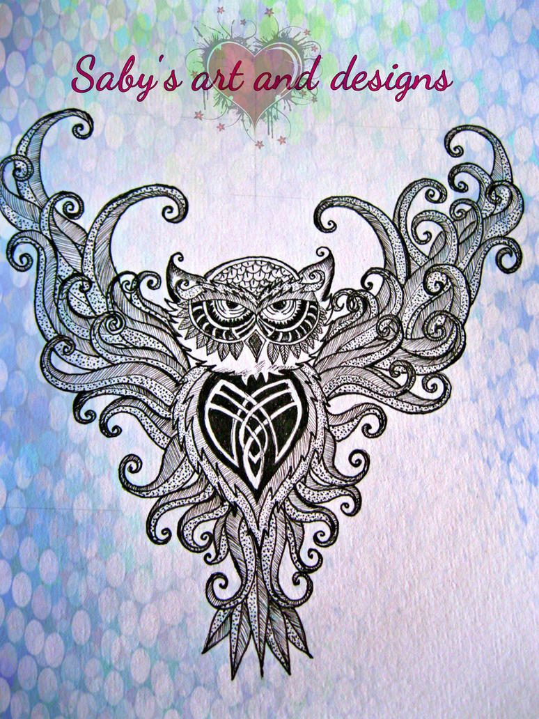 owl work in progress by SabinaHaq