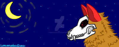 Discord Profile Banner WOLF SKULL