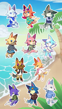 [For Sale! | Animal Crossing] Wolves Sticker Sheet