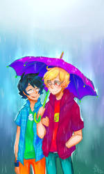 Colourful Rain by Life-Writer