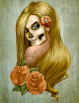 Skullface lady - Colored