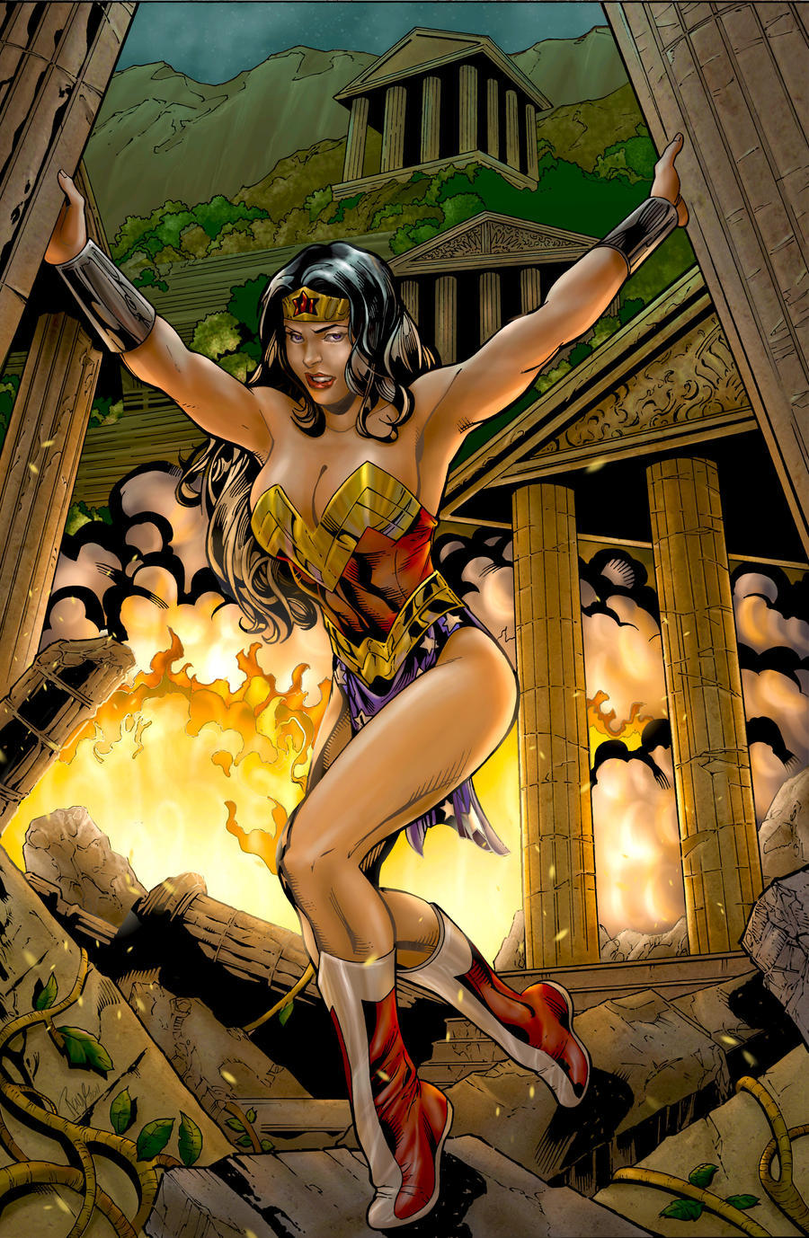 Wonder Woman - Colored by LadyOrange