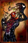 Spiderman vs. Venom - Colored