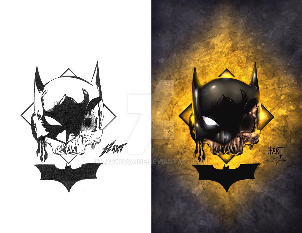 Arkham Cemetery - Batman by LadyOrange