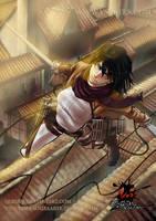 Mikasa (shingeki no Kyojin) Fanart by Quinipa