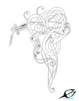 Mythological dragon tatto by elen89