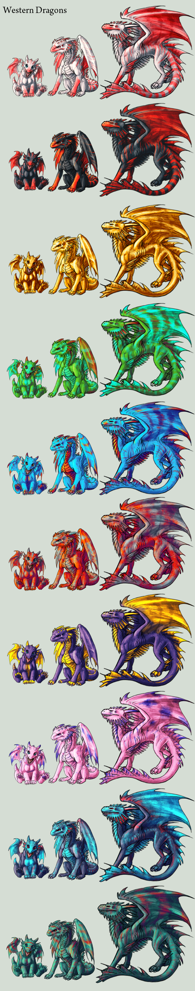 Adopt -Western Dragons- by elen89