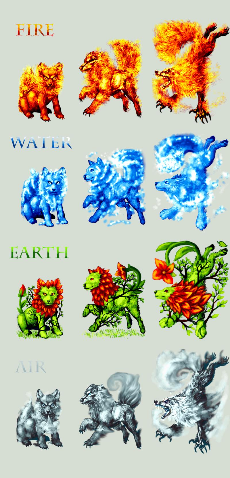 Adopt -Wolf- Elements by elen89