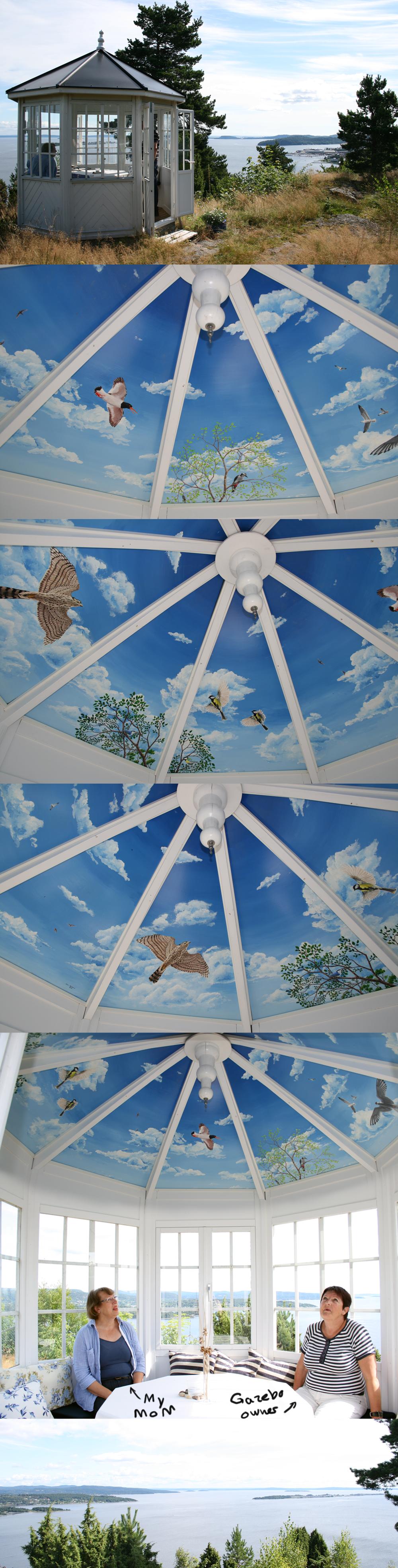 Gazebo roof, In place by elen89