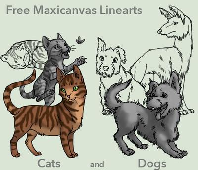 Free Maxicanvas Linearts by elen89