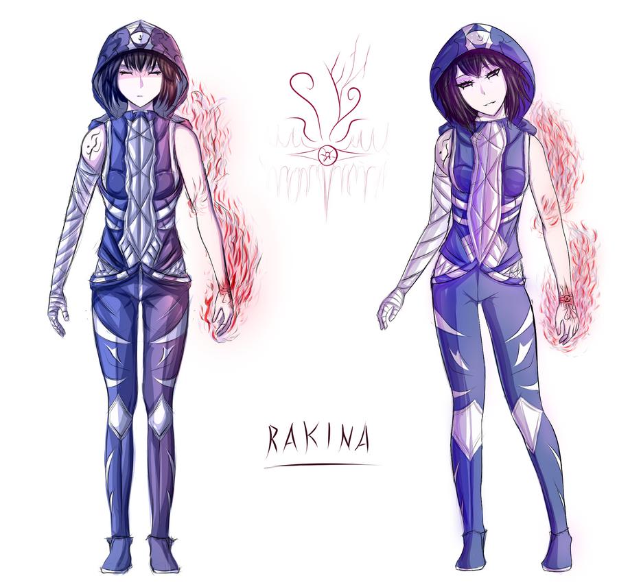 Rakina Concept Art (front) by FlamingDildo