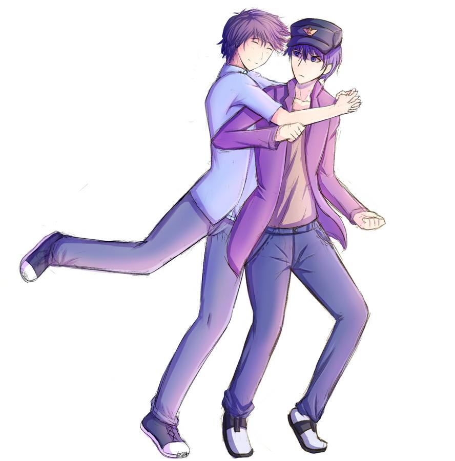 [C] Buddy hug! Not really.... by FlamingDildo