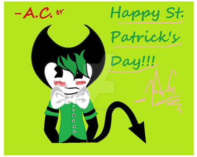 Happy (Late)St. Patrick's Day!!! by ArtistiaCons