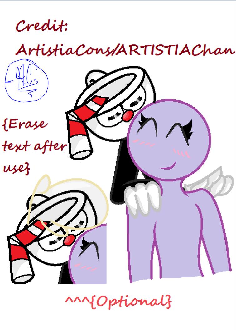 Base #5 (Cuphead X OC) by ArtistiaCons