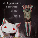 Will you make a contract with me? Kyubey x Madoka by 0les-x