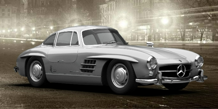 1955 mercedes benz 300sl by bhw2279 on deviantart for Mercedes benz gullwing 1955