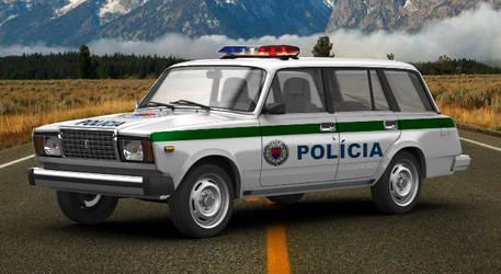 VAZ 21047 Slovakian Police Car