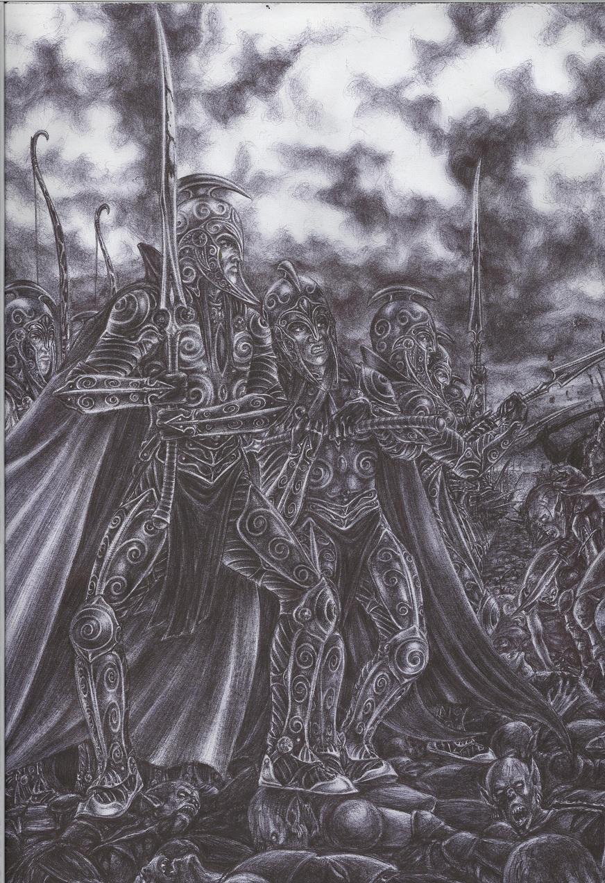 ELF FIGHTERS by sauronthegreateye