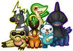 Black and White Pokemon Team