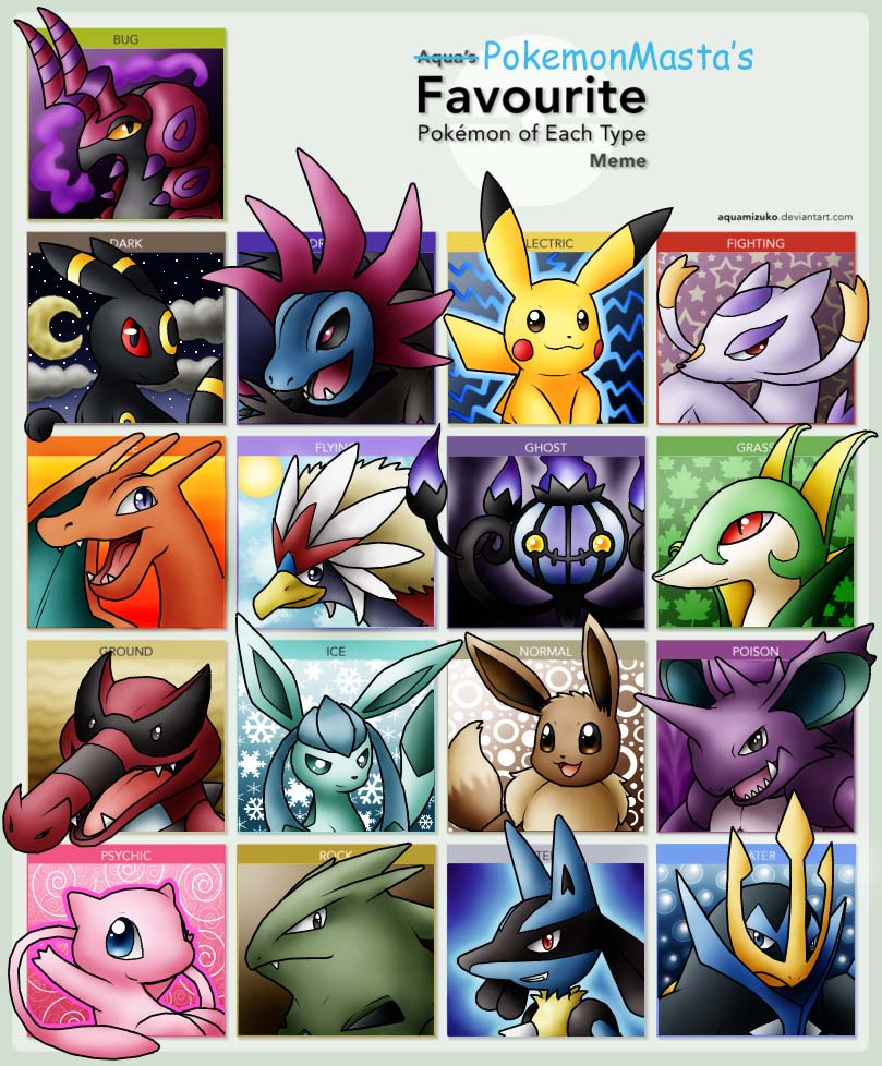 Favorite Pokemon Meme by PokemonMasta