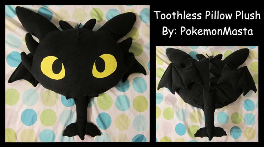 Toothless Pillow Plush by PokemonMasta