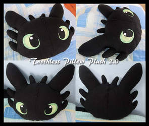 Toothless Pillow Plush 2.0 by PokemonMasta
