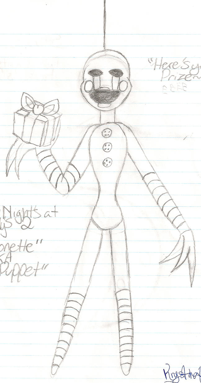 Puppet fnaf 2 drawings fnaf 2 the puppet by