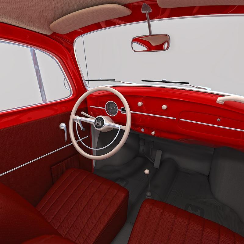 Interior Of Volkswagen Beetle 1300 (1968) By NesterovAnton ...