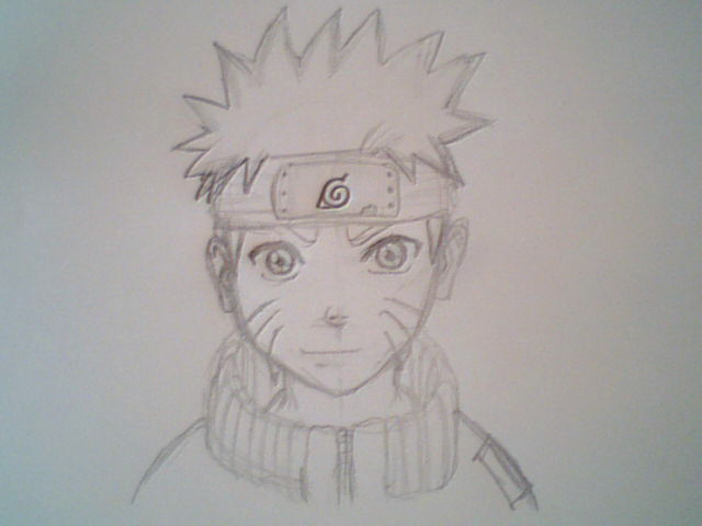 My naruto pencil drawing by thomvanrijckevorsel