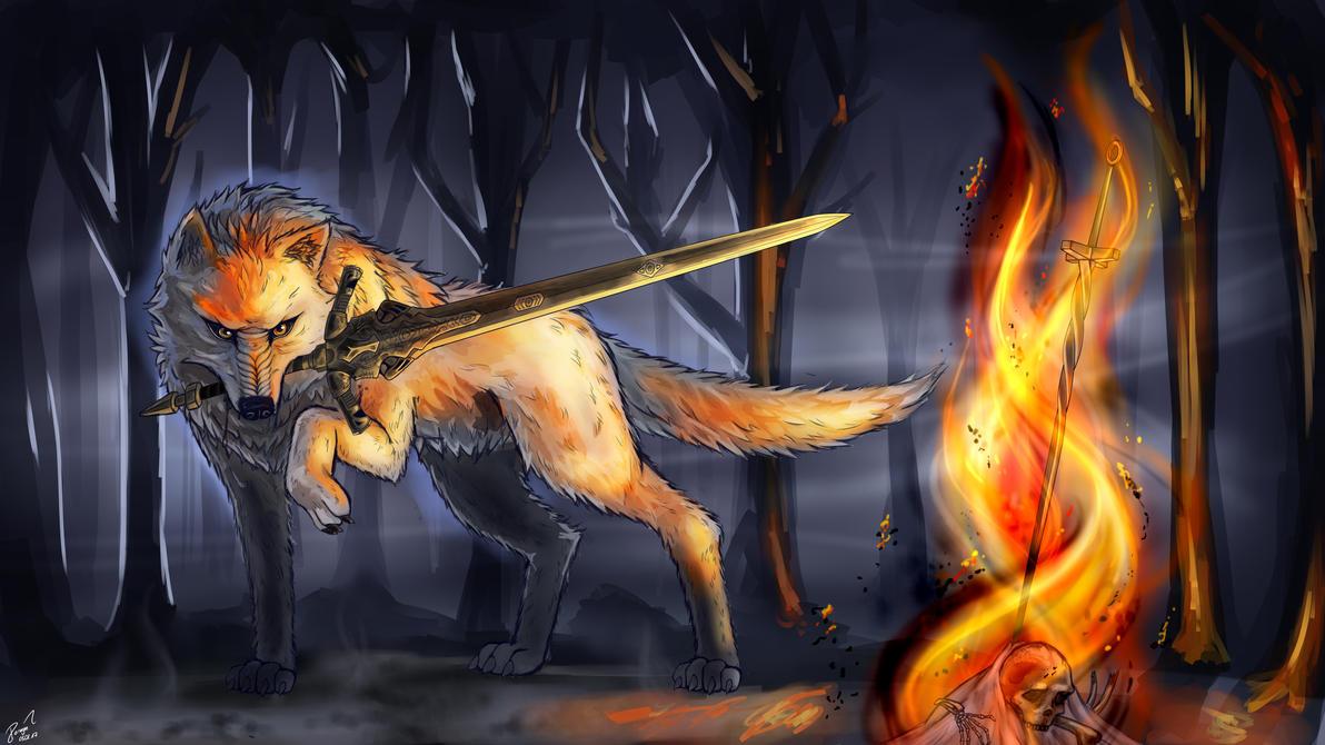 Sif The Great Grey Wolf By PrincessDoragon