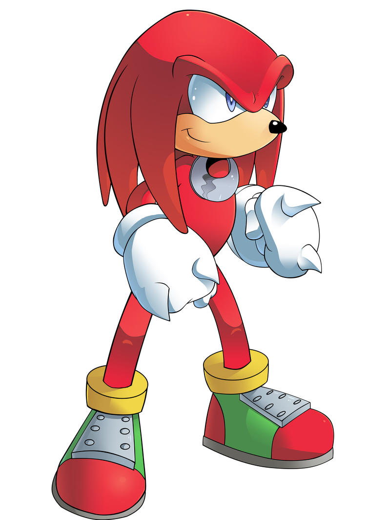 Knuckles- Sonic the Comic by AlkalineAzel