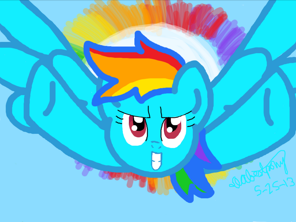 Sonic Rainboom by DAbestpony