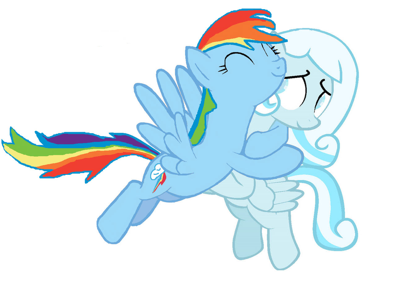 Rainbow Dash and SnowDrop Victor