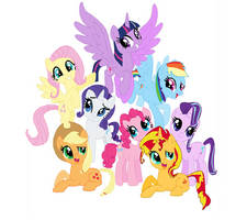 Mane Eight of My Little Pony Friendship of Magic by detailedatream1991