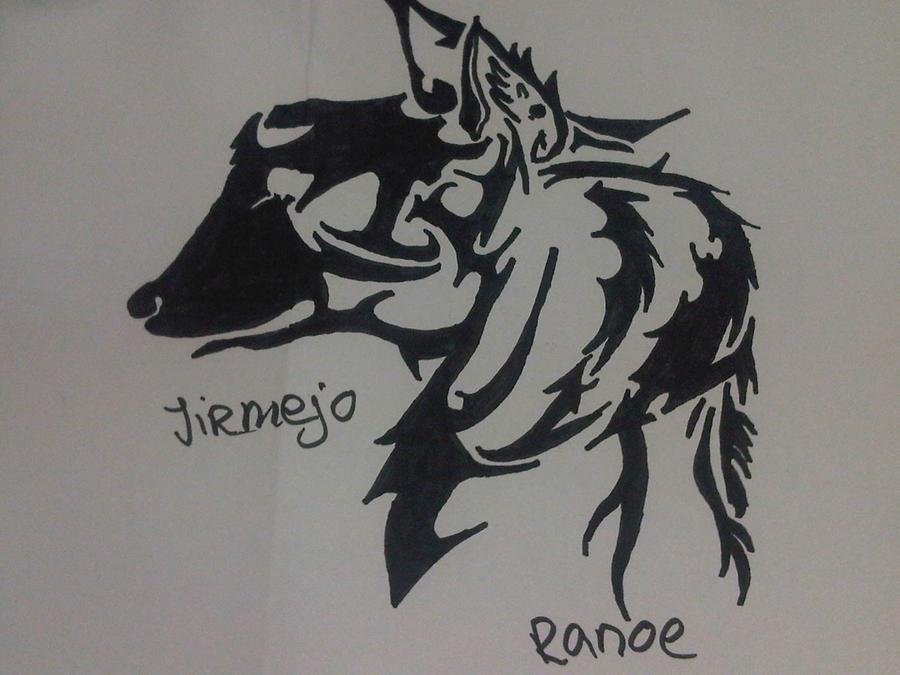 Tribal wolf/dog by jirjirjir