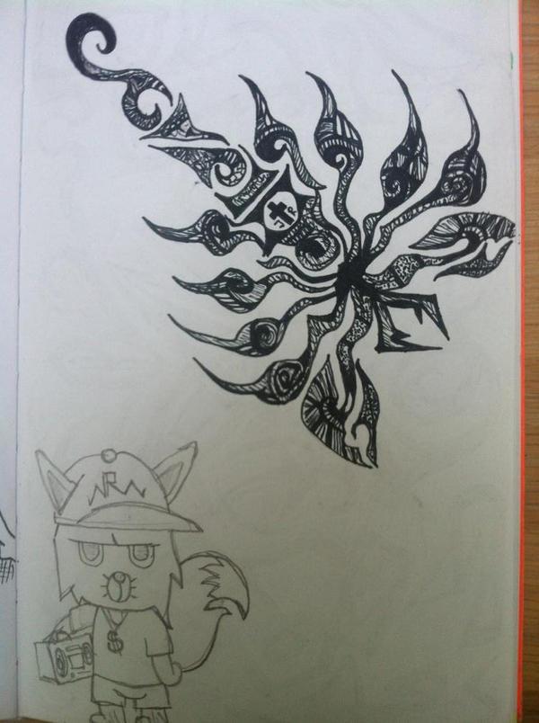Tribal Scorpion and hiphop fox by jirjirjir